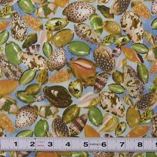 Lot G393 - SEASHELLS - Patchwork  Fabric by the ½ metre