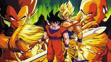 Poster 42x24 cm Dragon Ball Z Trunks Piccolo Goku Vegeta Super Saiyans 05