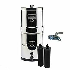 Big Berkey Water Filter Purification w/ 2 Black Filters Stainless Steel Spigot