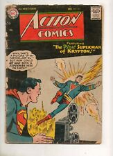 Action Comics #223 Superman on Krypton w/ Jor-El! 1956 Fair 1.0 miss centerfold