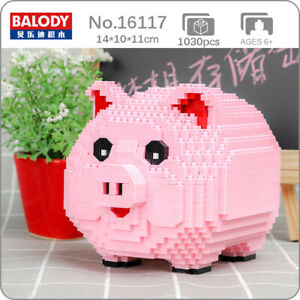Balody 16117 Pig Piggy Bank Money Box Animal 3D Mini Diamond Blocks Building Toy