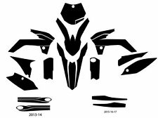 KTM 85 (2015-2017)  motocross vector template (1:1 scale)