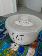 """Rae Dunn Artisan Collection By Magenta """"Eat"""" Ceramic Bowl W/Lid, New"""