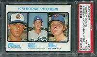 1973 Topps #610 Rookie Pitchers Freeman/Hough/Webb PSA 8 NM-MT