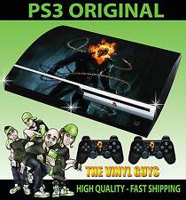 PLAYSTATION PS3 ORIGINALE Adesivo GHOST RIDER JOHNNY BLAZE SKIN e 2 SKIN PER PAD