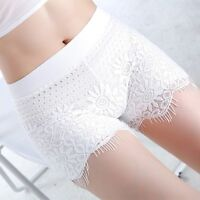 Lady Lace Floral Soft Safety Pants Short Leggings Underwear Ruffle Stretch Tight