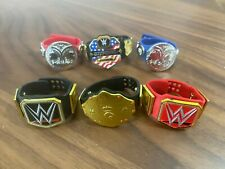 WWE Mattel Championship Belts Lot of 6 WWE Title Big Gold US RAW Smackdown Tag