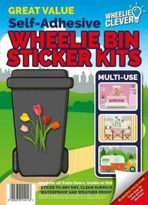 Decorative Wheelie Bin Stickers Multi-Use Sign Weather Proof Caravan Window Wall