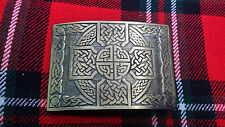 TC Highland Kilt Belt Buckle Cross Knot Work Antique Finish/Celtic Kilt Buckle