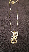 Heart Drop Pendant on a Fine Snake Chain