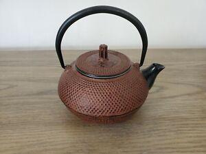Cast Iron Teapot Japanese Style w/ Strainer