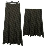 New Womens High Quality Tartan Check Long Maxi Skirt Gypsy Muslim Size 8 10
