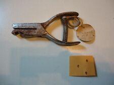 1950s Railroad Ticket Punch w/ ID tag