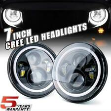 7'' Round 180W Total CREE LED Headlights Hi/Lo For 97-18 JEEP JK TJ LJ Wrangler