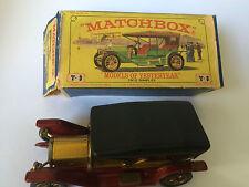 1912 SIMPLEX ORIGINAL VINTAGE OLD MATCHBOX MODELS OF YESTERYEAR TOY CAR & BOX XX