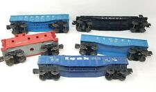 Lot of 5 LIONEL vintage rail cars postwar caboose 2 gondolas republic steel car