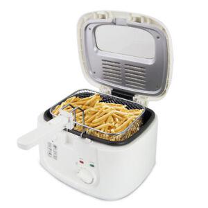 Friteuse Fritteuse Fritöse Frittöse Pommes Frittieren Elektrische Weiß 2,5 L NEU