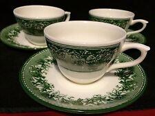 Kent Josiah Wedgwood Williams Sonoma England Vine Green 1 Coffee/Tea Cup &Saucer