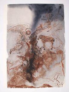 "Salvador Dali Lithograph ""Hircus caprarum super faciem terræ"" Biblia Sacra 1967"