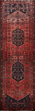 Vintage Traditional Geometric Hand-knotted Runner Rug Wool Hallway Oriental 3x10