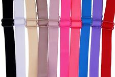 Wholesale Lot of 10 Plain Color Classic Bra Straps, Lingerie Accessories