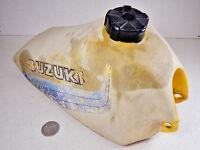 82 SUZUKI RM80 RM80Z GAS FUEL PETROL TANK CAP & PETCOCK