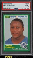 1989 Score Football Barry Sanders ROOKIE RC #257 PSA 9 MINT