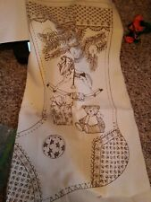 Stamped embroidery Christmas Stocking Printed Material Only