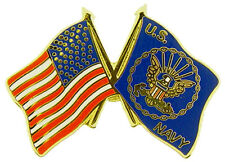 U.S. Navy USA Flag Lapel / Hat Cap Pin 1""