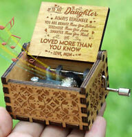 Engraved Music Box - You are My Sunshine, Gift for Daughter from Mom - UK