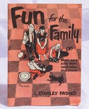 Vintage Fun for the Family: Games for Trips Rainy Days Stanley Pashko 1952 jds