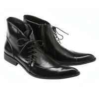Hot Stylish Mens male pointed toe chukka zipper lace up casual dress ankle boots