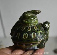 8CM Vieille Chine émail cloisonné Feng shui tortue tortue serpent Animal Statue
