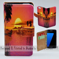 For Samsung Galaxy Series - Summer Sunset Theme Print Mobile Phone Case Cover