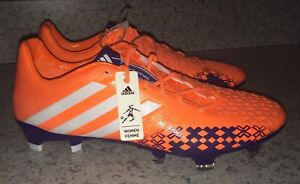 ADIDAS Predator LZ TRX FG Orange Purple Soccer Cleats Boots NEW Womens Sz 5