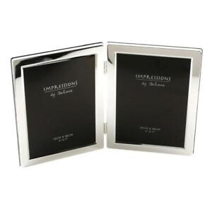 Photo Frame Silverplated Double 5x7