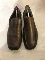 Pueblo Mens Brown Leather Moccassin Shoes Uk 44 Ref Ju01