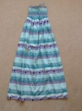 Ladies Strapless Maxi Dress by Warehouse Size Small Green/Purple/White EX COND