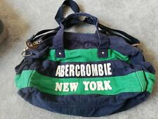 Abercrombie And Fitch Medium Holdall Blue And Green Cotton