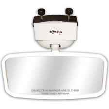 "CIPA Universal 4"" x 8"" White Universal Marine Boat Mirror w/ Mounting Bracket"