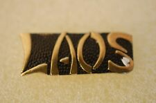 US USA Laos Military Hat Lapel Pin