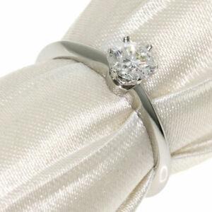 TIFFANY&Co.   Ring Solitaire Diamond Platinum PT950