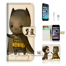 ( For iPhone 6 / 6S ) Wallet Case Cover! Cute Batman and Robin P0031