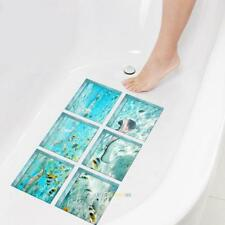 6pcs 3D Anti Slip PVC Waterproof Bathtub Stickers Bathroom Shower Bath Tub Decal