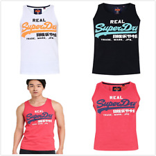 Superdry Mens Vintage Logo Duo Tank Top Singlet Vest Sleeveless Shirt Size S-3XL