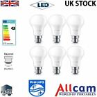 6 Pack Philips 9W B22 LED Bulbs Globe Frosted 806lm 2700k Warm White