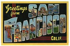 Greetings from San Francisco California, Bridge etc Modern Large Letter Postcard