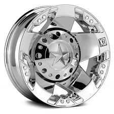 17 Inch Wheels Rims Dodge RAM Chevy 3500 Ford F350 Dually Chrome XD Rockstar 4