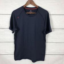 Rhone Short Sleeve T Shirt Navy Blue Size Medium M Athletic Workout Running