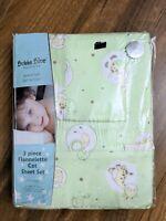 Bubba Blue Australia 3 Piece Flannelette Cot Sheet Set (fits Boori Cot) Baby NEW